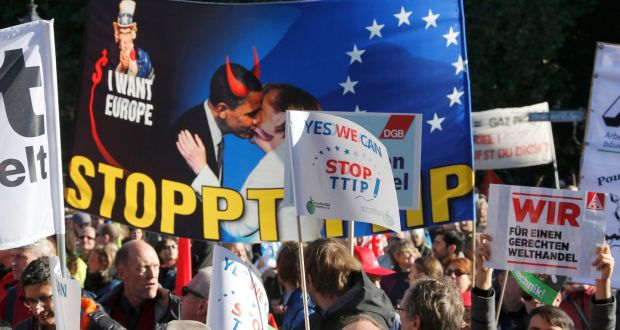 Europe TTIP Protest